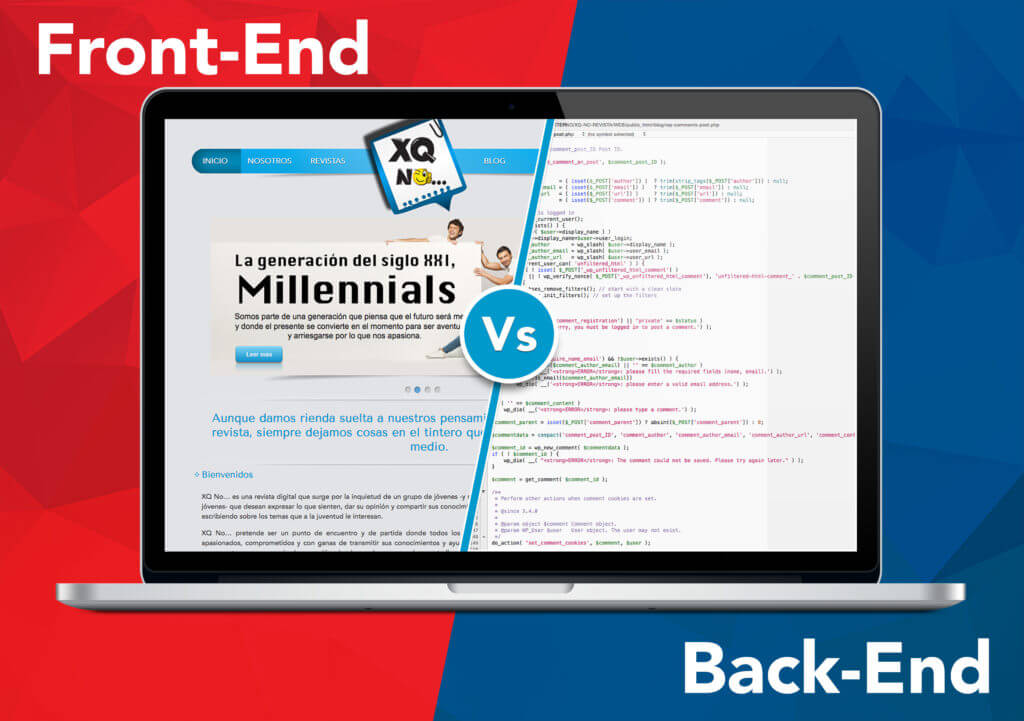 Comparison between front-end and back-end developers